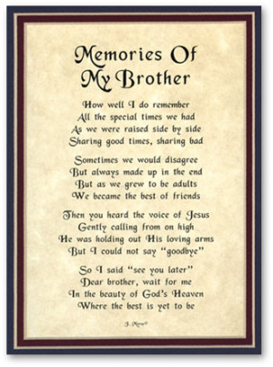 Missing My Brother In Heaven Quotes