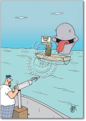 Save The Whale Inappropriate Funny Get Well Card Nobleworks