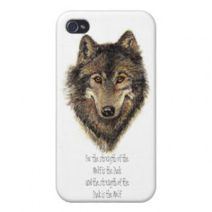 Wolf and Pack Family Quote - Animal Collection Cover For iPhone 4