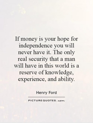 Henry Ford Quote On Money