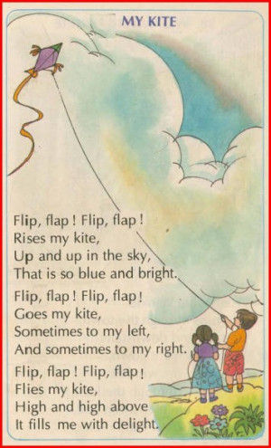 MY KITE FLYING IN THE SKY - CHILDRENS RHYME