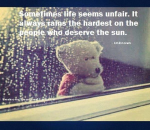 sometimes life seems unfair quotes in relationship