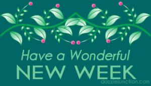 Floral Wonderful New Week quote