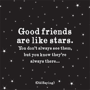 Good Friends Are Like Stars - Quotable Magnet