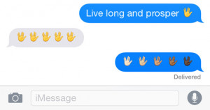There's a new Vulcan salute emoji: Live long and text