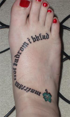 Irish Saying Tattoo