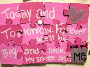 Tell your little why you two are a perfect fit with a cute puzzle ...