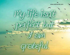 My Life Is Not Perfect But I Am Grateful