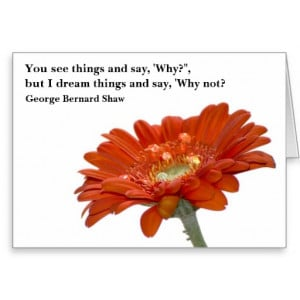 Card - Orange Daisy Flower with quote