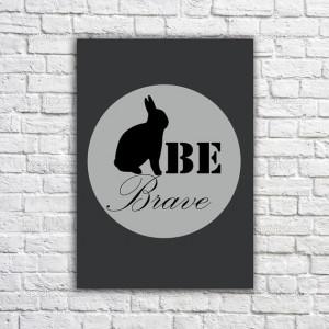 Rabbit poster -Inspirational quote - Motivational Print -Typographic ...