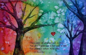 ... Attract What You Want You Attract What YOU ARE. - Dr. Wayne Dyer