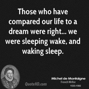 Michel de Montaigne Dreams Quotes