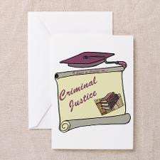 Criminal Justice Degree Greeting Card for