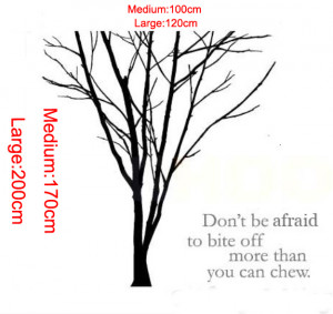 Details about Huge Tree Branch wall stickers wall quotes Decal ...