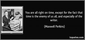 Quotes by Maxwell Perkins