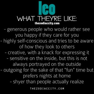 Leo...What They're Like...
