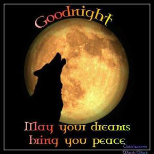 Peaceful dreams.