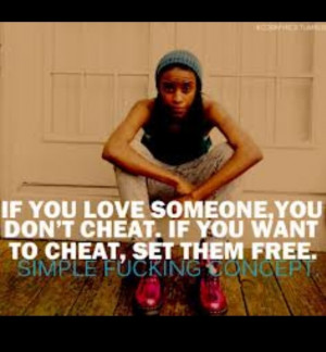 Real men (or women) don't cheat!!!