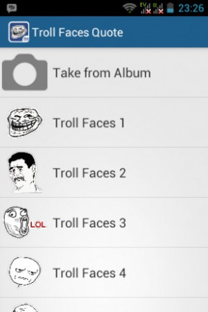 View bigger - Troll Faces Quotes Creator for Android screenshot