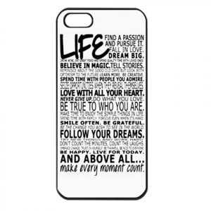 Life Quotes Iphone 5 Case Cover
