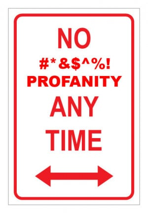 What are your thoughts on profanity?