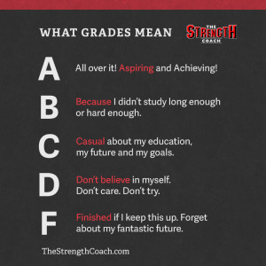 """... the importance of getting good grades in the """"University of Life"""