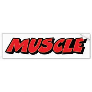 Muscle ~ Car Fitness Trainer Weight Lifter Car Bumper Sticker