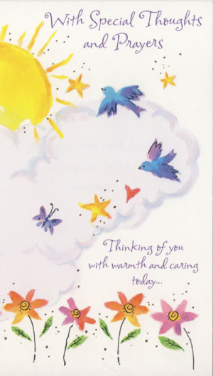 With Special Thoughts and Prayers Card