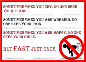Sometimes when you cry, no one sees your tears,