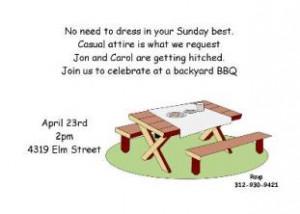BBQ Barbeque Bridal Wedding Shower invitations