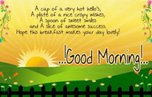 ... & SUCCESS are waiting to Welcome u in a New DAY Good Morning
