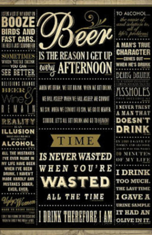 Drinking Quotes College Poster Print Poster