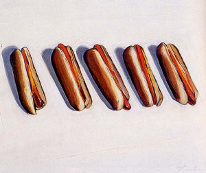 Illustration art painting Wayne Thiebaud
