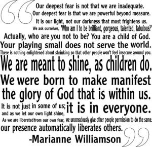 Marianne Williamson Our Deepest Fear