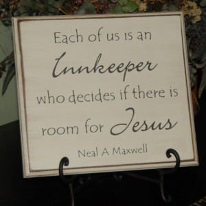 Are we making room for Jesus in our lives?