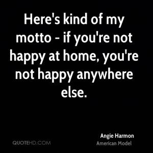 Angie Harmon Home Quotes