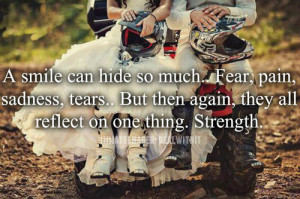... url http www quotes99 com a smile can hide so much fear pain img