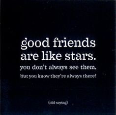 stars pictures and quotes   Magnet: Good friends are like stars (MAG ...