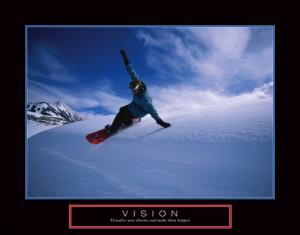 VISION Extreme Snowboarding Poster - Motivational, Inspirational ...