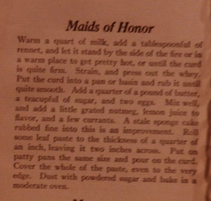 ... can imagine the history this old book could tell us~Maid of Honor