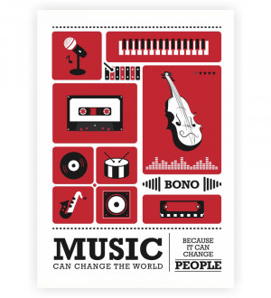 Lab No.4 Bono Musician Retro Inspirational Quotes Typography Poster