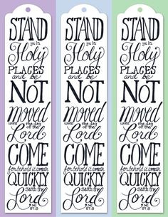 Stand in Holy Places Bookmark | telling family tales