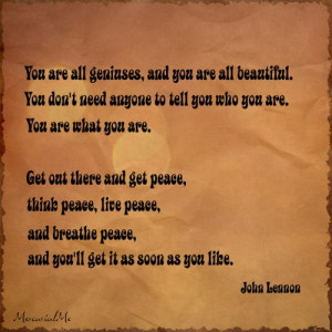 Inspirational song quotes john lennon