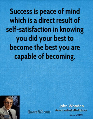 Self-Satisfaction quote #2