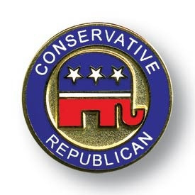 Conservative Republican Lapel Pin - this would be me - especially the ...