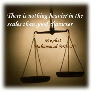 Quotes on Good Character, Prophet Muhammad PBUH Quotes,