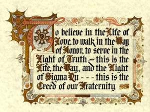 by Walter J. Sears (Nu - Kansas), The Creed defines what Knights ...
