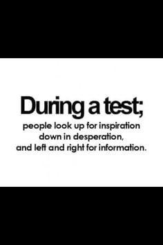 Funny Test Prep Quotes and Sayings
