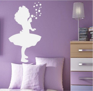 Blowing Bubbles Quotes | Girl Blowing Bubbles Cute Silhouette Wall ...