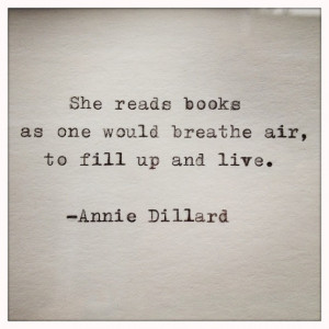 Annie Dillard Quote Typed on Typewriter on Cardstock